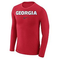 Men's Nike Georgia Bulldogs Marled Long-Sleeve Dri-FIT Tee