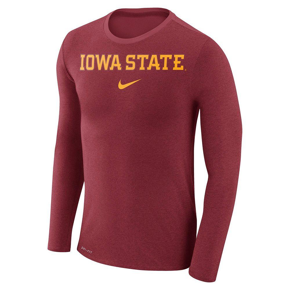 2839a16f Men's Nike Iowa State Cyclones Marled Long-Sleeve Dri-FIT Tee