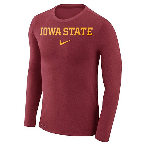 Men's Nike Iowa State Cyclones Marled Long-Sleeve Dri-FIT Tee