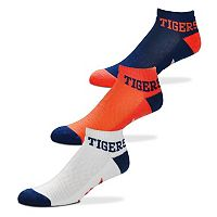 Men's For Bare Feet Detroit Tigers 3-Pack Low-Cut Socks
