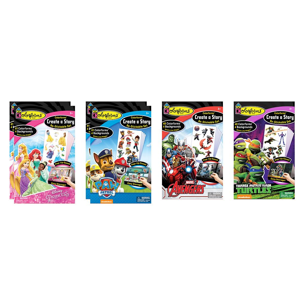 Colorforms Create a Story Re-Stickable Multi-Pack Playset
