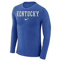 Men's Nike Kentucky Wildcats Marled Long-Sleeve Dri-FIT Tee