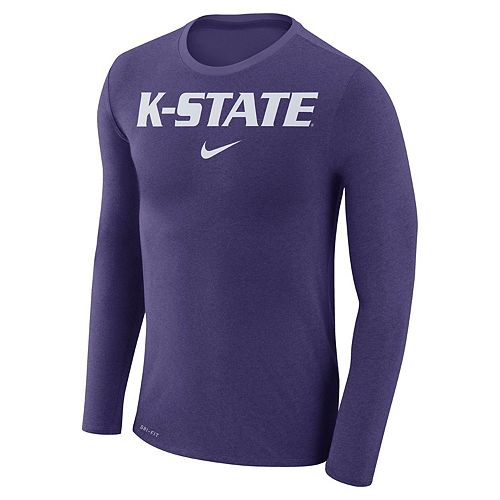 Men's Nike Kansas State Wildcats Marled Long-Sleeve Dri-FIT Tee