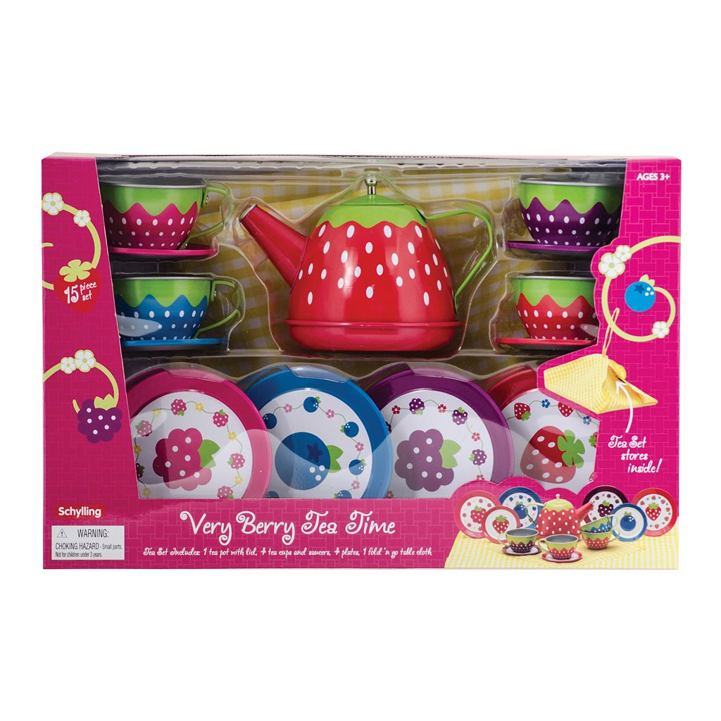 Schylling Very Berry Tin Tea Set