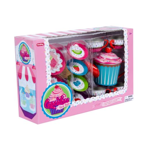 Schylling Cupcake Tin Tea Set