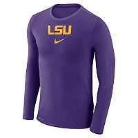 Men's Nike LSU Tigers Marled Long-Sleeve Dri-FIT Tee
