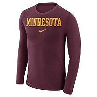 Men's Nike Minnesota Golden Gophers Marled Long-Sleeve Dri-FIT Tee