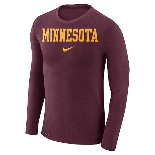 Men's Nike Minnesota Golden Gophers Marled Long-Sleeve Dri-FIT Tee