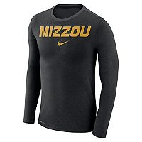 Men's Nike Missouri Tigers Marled Long-Sleeve Dri-FIT Tee