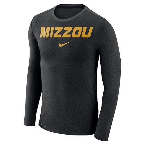 Men's Nike Missouri Tigers Marled Long-Sleeve Dri-FIT Tee