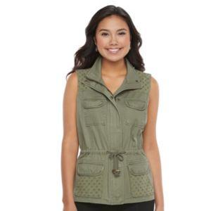 Juniors' Candie's® Eyelet Utility Vest