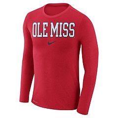 Men's Nike Ole Miss Rebels Marled Long-Sleeve Dri-FIT Tee