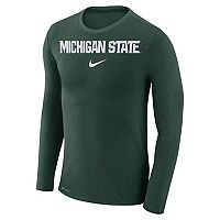 Men's Nike Michigan State Spartans Marled Long-Sleeve Dri-FIT Tee