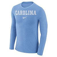 Men's Nike North Carolina Tar Heels Marled Long-Sleeve Dri-FIT Tee