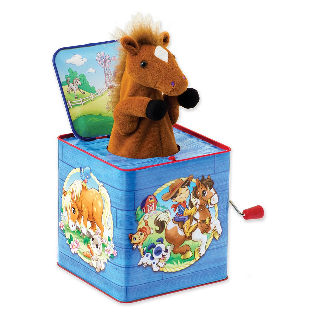 Schylling Poppin' Pony Jack-In-Box Toy