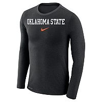 Men's Nike Oklahoma State Cowboys Marled Long-Sleeve Dri-FIT Tee