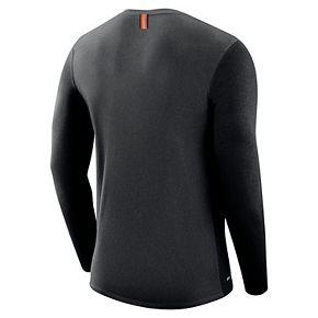 Men's Nike Oklahoma State Cowboys Marled Long-Sleeve Dri-FIT Tee