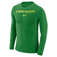 Men's Nike Oregon Ducks Marled Long-Sleeve Dri-FIT Tee