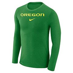 Men's Nike Oregon Ducks Marled Long-Sleeve Dri-FIT Tee