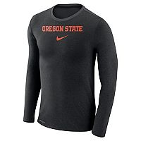 Men's Nike Oregon State Beavers Marled Long-Sleeve Dri-FIT Tee