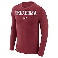 Men's Nike Oklahoma Sooners Marled Long-Sleeve Dri-FIT Tee
