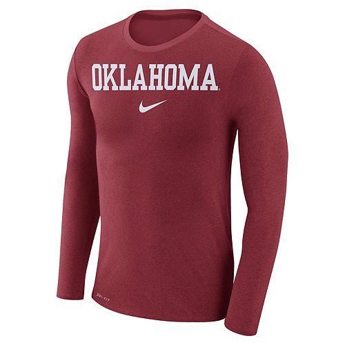 Men's Nike Oklahoma Sooners Marled Long-Sleeve Dri-FIT Tee