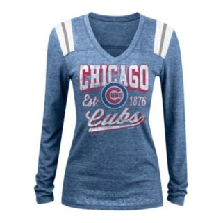 Women's 5th & Ocean Chicago Cubs Panel Tee