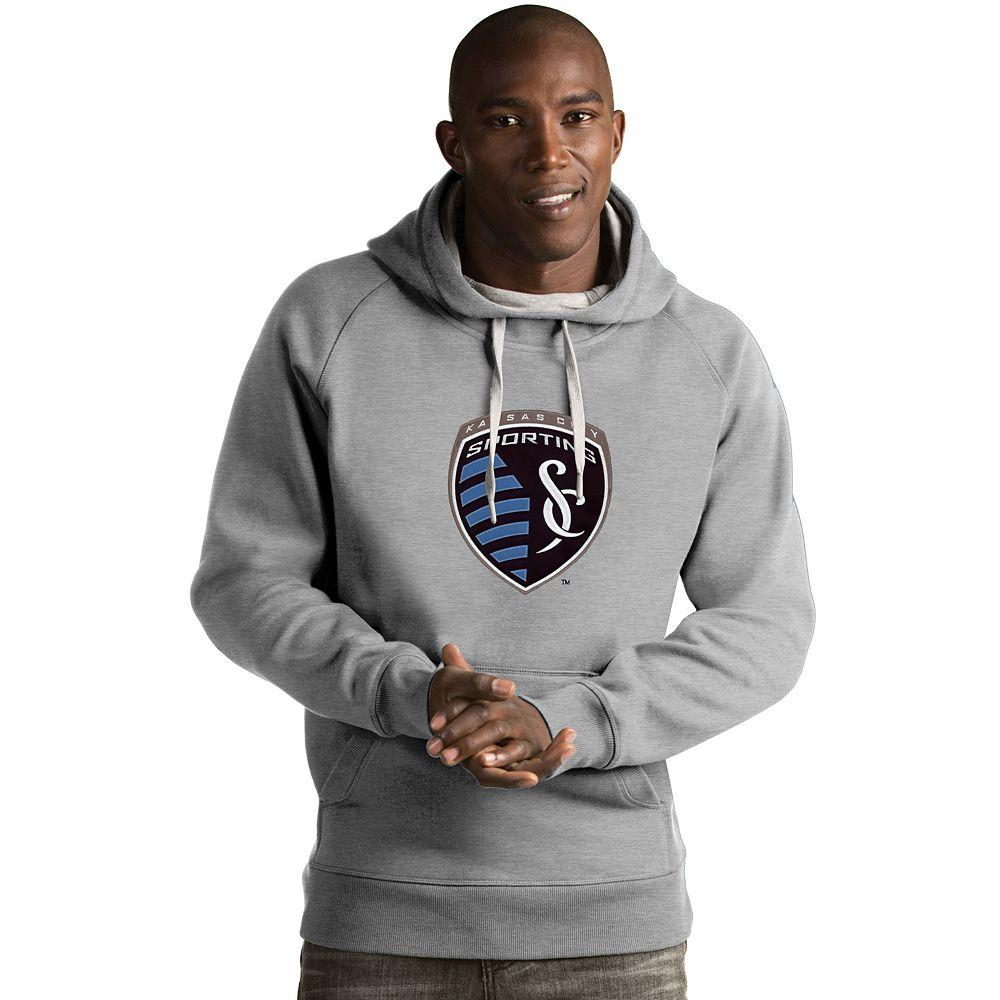 Men's Antigua Sporting Kansas City Victory Logo Hoodie