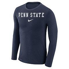 Men's Nike Penn State Nittany Lions Marled Long-Sleeve Dri-FIT Tee
