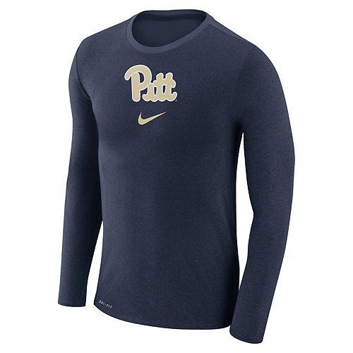 Men's Nike Pitt Panthers Marled Long-Sleeve Dri-FIT Tee