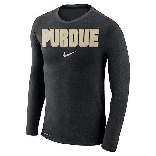 Men's Nike Purdue Boilermakers Marled Long-Sleeve Dri-FIT Tee