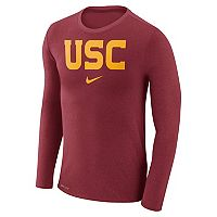 Men's Nike USC Trojans Marled Long-Sleeve Dri-FIT Tee