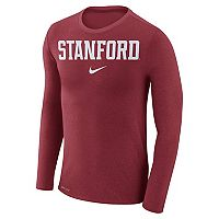 Men's Nike Stanford Cardinal Marled Long-Sleeve Dri-FIT Tee