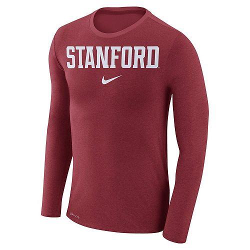 Men's Nike Stanford Cardinal Marled Long-Sleeve Dri-FIT Tee
