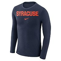 Men's Nike Syracuse Orange Marled Long-Sleeve Dri-FIT Tee