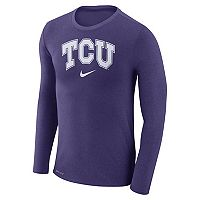 Men's Nike TCU Horned Frogs Marled Long-Sleeve Dri-FIT Tee
