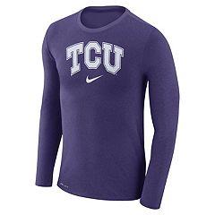 Men's Nike TCU Horned Frogs Marled Long-Sleeve Dri-FIT Tee
