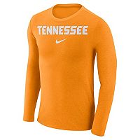 Men's Nike Tennessee Volunteers Marled Long-Sleeve Dri-FIT Tee