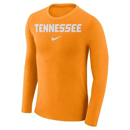 Men's Nike Tennessee Volunteers Marled Long-Sleeve Dri-FIT Tee