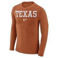 Men's Nike Texas Longhorns Marled Long-Sleeve Dri-FIT Tee