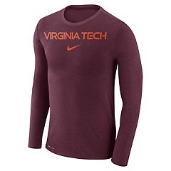 Men's Nike Virginia Tech Hokies Marled Long-Sleeve Dri-FIT Tee