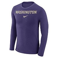 Men's Nike Washington Huskies Marled Long-Sleeve Dri-FIT Tee