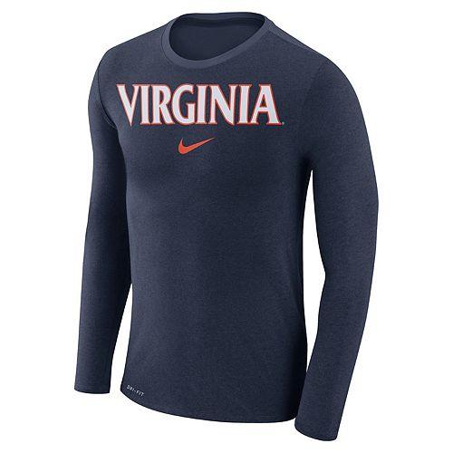 Men's Nike Virginia Cavaliers Marled Long-Sleeve Dri-FIT Tee