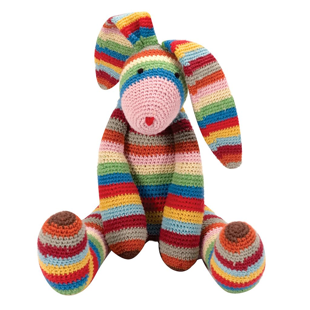 Schylling Stripes The Long Eared Bunny Plush Toy