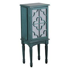 Mazie Mirrored Quatrefoil Jewelry Armoire