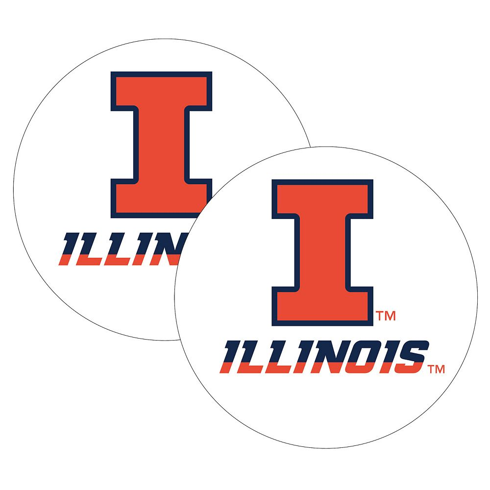 Illinois Fighting Illini 2-Pack Large Peel & Stick Decals