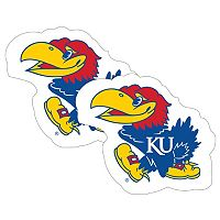 Kansas Jayhawks 2-Pack Large Peel & Stick Decals