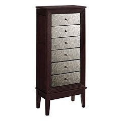 Ava Mirrored 6-Drawer Jewelry Armoire