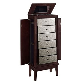 Ava Mirrored 6-Drawer Jewelry Armoire