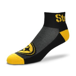 Men's For Bare Feet Pittsburgh Steelers The Cuff Low-Cut Socks